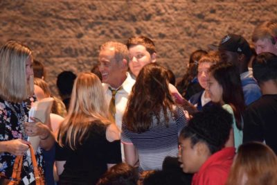 Two-time Emmy winner John Wesley Shipp meets and greets Moore County Schools students
