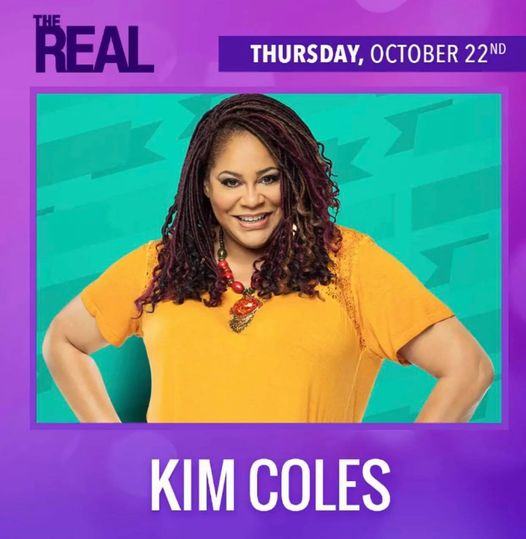 JTC Star KIM COLES is on The Real today!